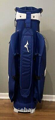 Mizuno Pro Golf Cart Bag 14-Way Top Rain Hood Lightweight with Umbrella Holder
