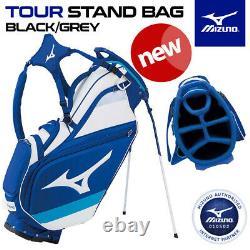 Mizuno Tour Golf Stand/Cart Bag 6-WAY Top Staff Blue/White NEW! 2021