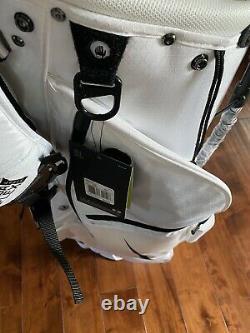 NEW 2020 Nike Air Hybrid Carry Stand Cart Golf Bag 14 Way White/Black FREE SHIP
