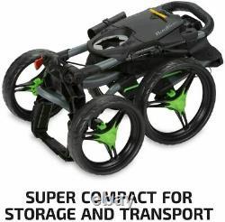 NEW! Bag Boy Quad XL Golf Push and Pull Cart Battleship Gray & Lime Green