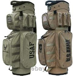 NEW Hot-Z Golf U. S. Military Active Duty Cart Bag 14-Way Top Pick your Branch