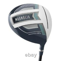 NEW Lady Wilson Golf Magnolia Complete Set w Driver, Cart Bag, Irons Navy Petite