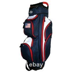 NEW Naples Bay Golf CT Lite Cart Bag 14-way Top USA Flag Navy / Red / White