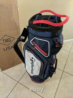 NEW Taylormade TM Golf Cart Bag Stand 8.0 Navy Blue Red