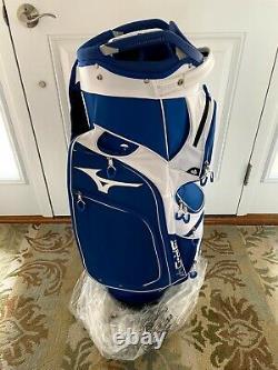 New 2021 Mizuno Br-d4c Cart Golf Bag Blue & White
