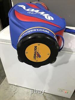 New Adams Special Edition Southwest Airlines Staff Cart Golf Bag Blue Red