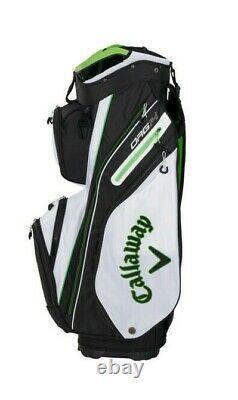 New Callaway Golf 2021 Org 14 Epic Cart Bag COLOR White/Black/Green 14-Way Top