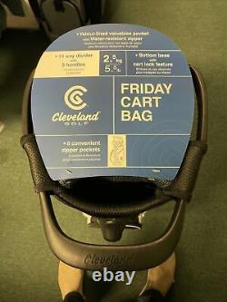 New Cleveland Golf Cart Bag 14-Way Divider Black/ Charcoal/white