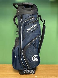 New Cleveland Golf Cart Bag 14-Way Divider Navy /black