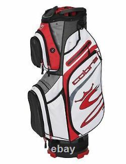 New Cobra Golf- Ultralight Cart Bag BLACK-HIGH RISK RED-WHITE