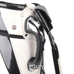 New Guiote KING SKULL White Golf staff bag caddie cart bag comes with Rainhood