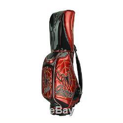 New Guiote Spider Golf staff bagWeb model caddie cart bag comes with Rainhood