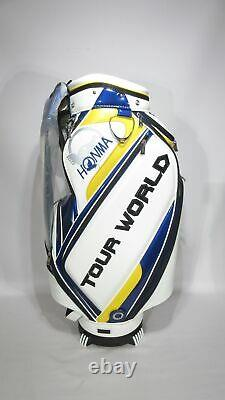 New Honma Tour World White/blue/yellow Cart Bag 9 Divider #263721su