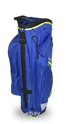 New Hot-Z Golf 3.5 Cart Bag Blue/Lime