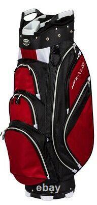 New Hot-Z Golf 4.5 Cart Bag Black/Red/White