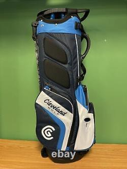 New Lightweight Cleveland Golf Stand Bag 14-Way Divider Navy/ royal/ White
