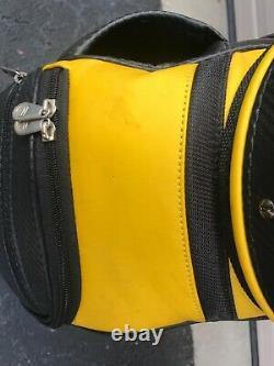 New NWOT Vintage Nike SQ Sumo Sasquatch Golf Cart Bag Black Yellow Silver