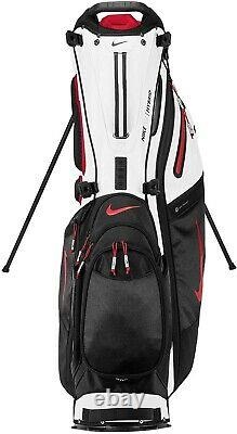New Nike Air Hybrid Carry Stand Cart Golf Bag Black 14 Way Divider Free Shipping