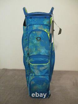 New Ogio Woode 15 Golf Cart Bag Blue / Floral