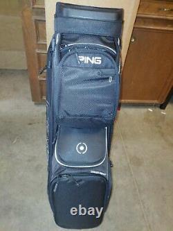 New Ping Golf Traverse 14-Way Top Black Cart Bag