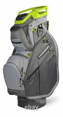 New Sun Mountain Golf C-130 Supercharged Cart Bag Iron/Gunmetal/Gray/Rush