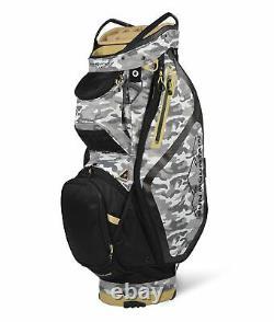 New Sun Mountain Golf- Maverick Cart Bag Gray Camo/Black/Gold