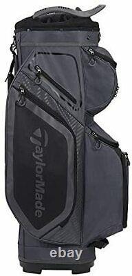 New TaylorMade Cart 8.0 Bag, Charcoal/Black Free Shipping
