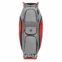 New TaylorMade Golf- 2020 CART LITE US Bag Gray Dark/Blood Orange