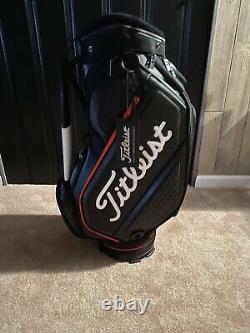 New Titleist Midsize Jet Black Tour Staff / Cart Bag with Rain Hood TB20SF4-006