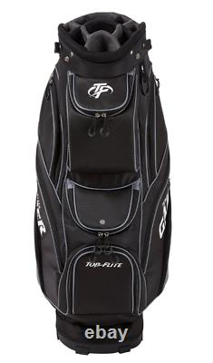 New Top Flite Gamer Golf Club Cart Bag Black 14-Way Padded Divider
