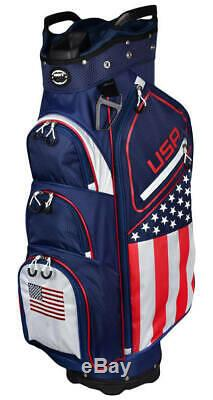 New for 2020 Hot Z Golf USA Flag Cart Bag New Improved Style