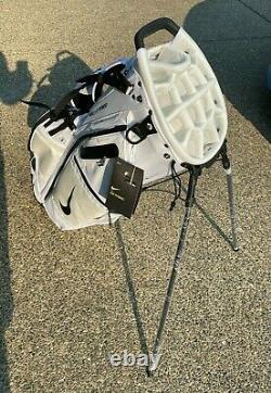 Nike Air Hybrid Golf Bag White Stand 14 Club Divider Backpack Cart Caddie