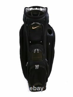 Nike Performance Cart Golf Bag 14 Way Divider Black Rain Hood Included
