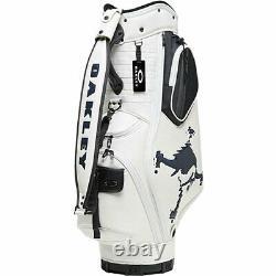 OAKLEY Golf Men's Caddy Bag 9.5 x 47 in 4.7kg WHITE DIGITAL SKULL 14.0 FOS900201