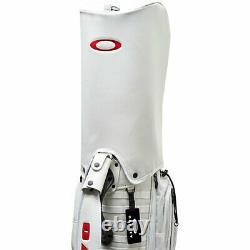 OAKLEY Golf Men's Caddy Bag 9.5 x 47 inch 4.7kg WHITE RED SKULL 14.0 FOS900201
