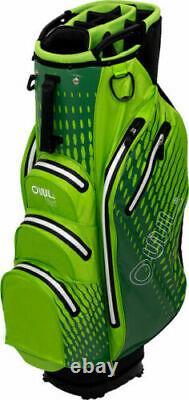 OUUL AQUA 100% Waterproof Trendy Cart Bag 14 way Divider in Green Brand New