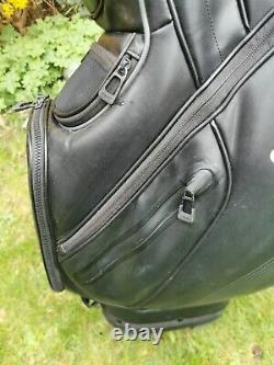 PING DLX Golf Cart Trolley Bag / 15 Way / Rainhood & Strap / Very Good