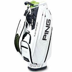 PING Golf Men's Cart Caddy Bag Soft PU Model 9.5 x 47 inch 3.5kg White CB-P191