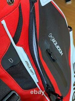 PING Hoofer 14 Golf Cart Stand Hybrid Bag Red Black & White 12 Pockets New