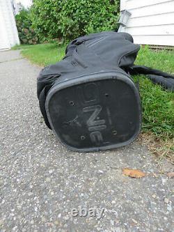 PING Traverse 14-Way Cart Golf Bag Black, White Lettering with Rain Hood NICE