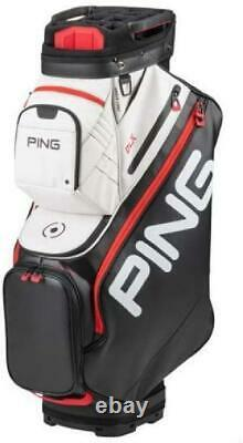 Ping 2020 DLX Golf 15 Way Cart Bag Black Red Fully-Loaded Storage 14 Pockets NEW