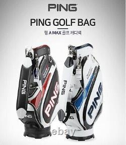 Ping 2020 Sporty A MAX Men Sports Golf Cart Caddie Bag-9 5way 8lb PU/PVC-Black