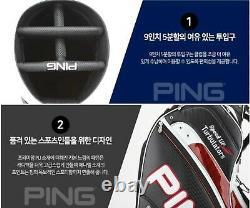 Ping 2020 Sporty A MAX Men Sports Golf Cart Caddie Bag-9 5way 8lb PU/PVC-White