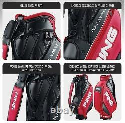 Ping 2020 Sporty M20 Men Sports Golf Cart Caddie Bag-9 5way 11lb PU/PVC White