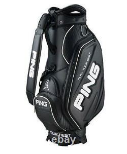 Ping 2021 Sporty M25 Men Sports Golf Cart Caddie Bag-9 5way 9lb PU/PVC Black