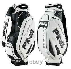 Ping 2021 Sporty M25 Men Sports Golf Cart Caddie Bag-9 5way 9lb PU/PVC White