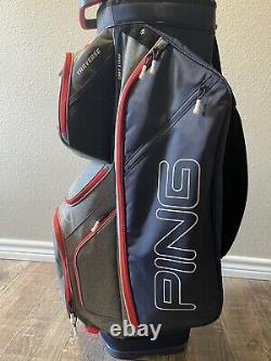 Ping Traverse Cart Golf Bag (Black) 14-Way Top Ping Cart Golf Bag