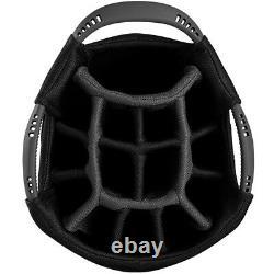 PowaKaddy DLX-Lite Edition Golf Cart Bag Black/Titanium/Yellow NEW! 2020
