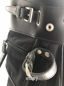 Prada Nero (Black) Tessuto + Saffi Technical Golf Bag 1999 Release New WithTags
