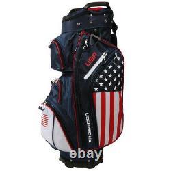Prosimmon Golf DRK 14 Way Cart Bag, USA Flag